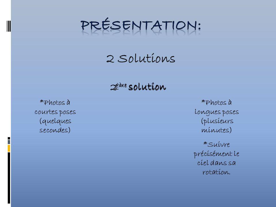 Présentation: 2 Solutions 2ème solution 1ère solution