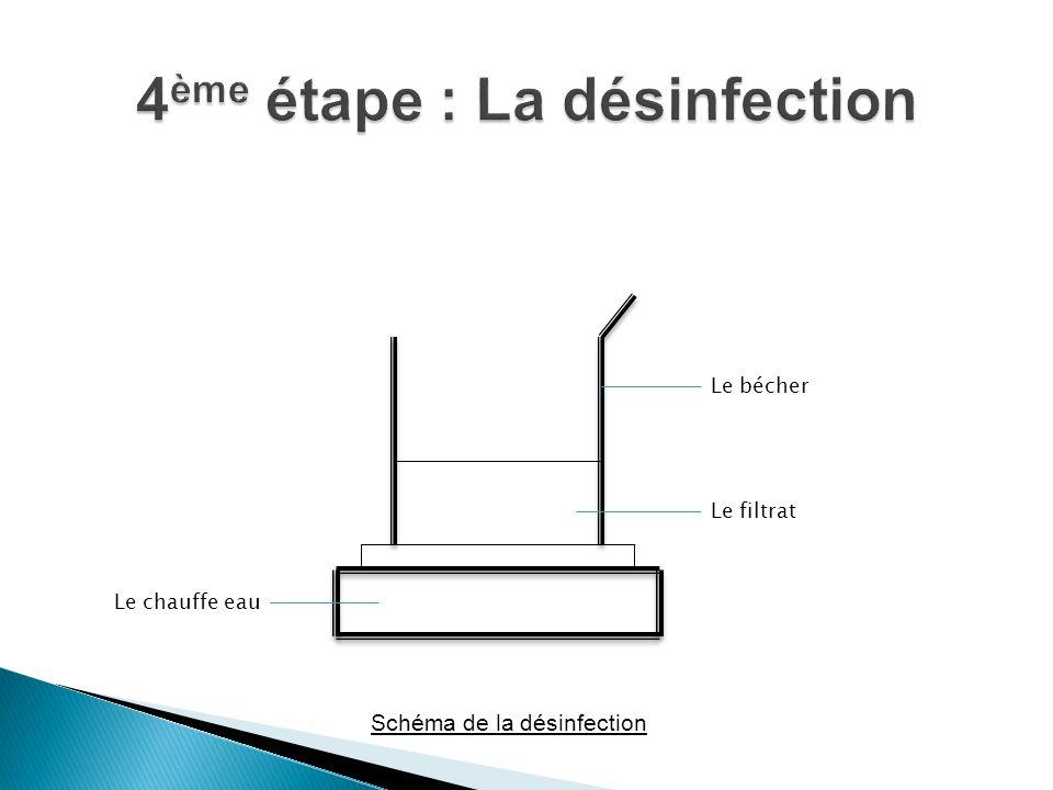 4ème étape : La désinfection
