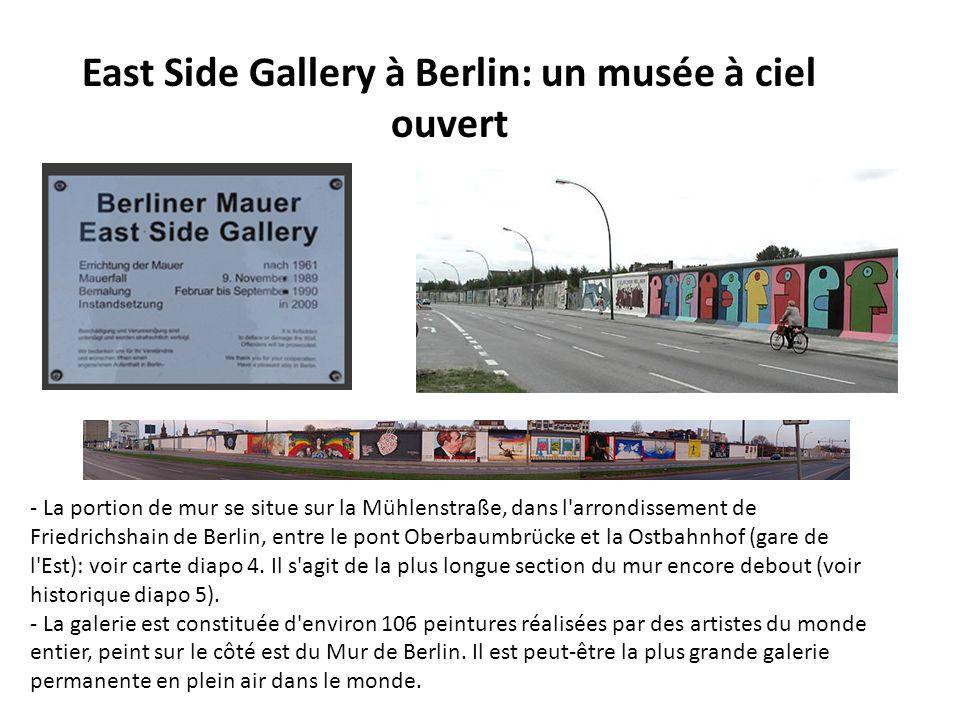 East Side Gallery à Berlin: un musée à ciel ouvert