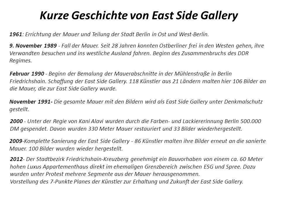 Kurze Geschichte von East Side Gallery