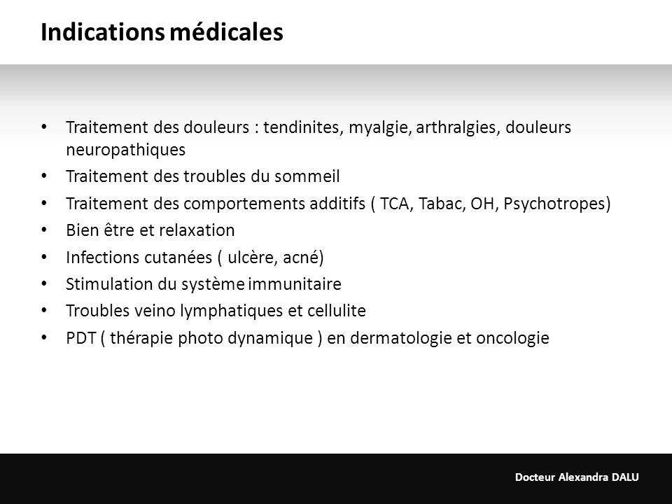 Indications médicales