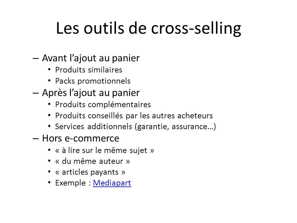 Les outils de cross-selling
