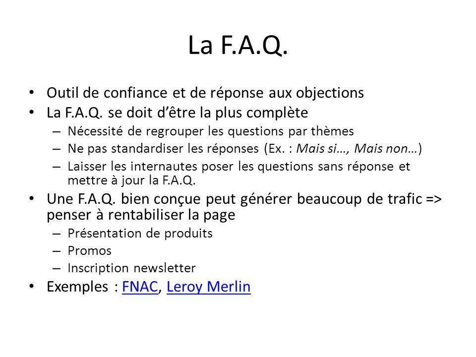 La F.A.Q. Outil de confiance et de réponse aux objections