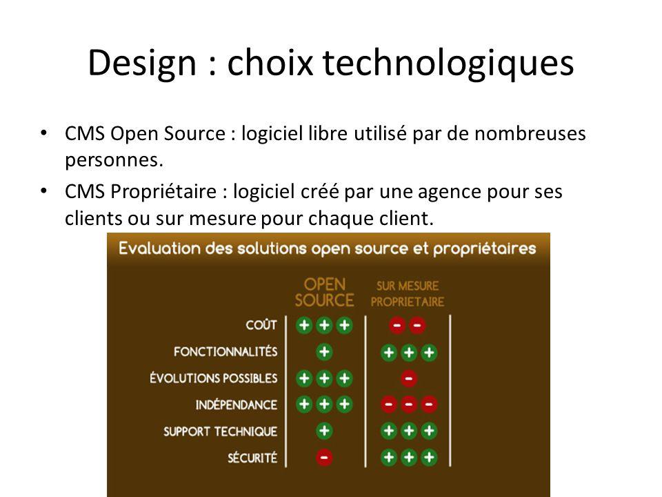 Design : choix technologiques
