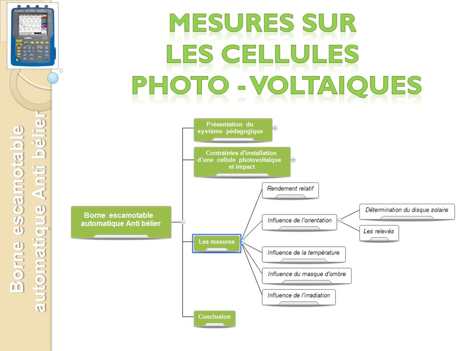 MESURES sur Les CELLULES PHOTO - VOLTAIQUES