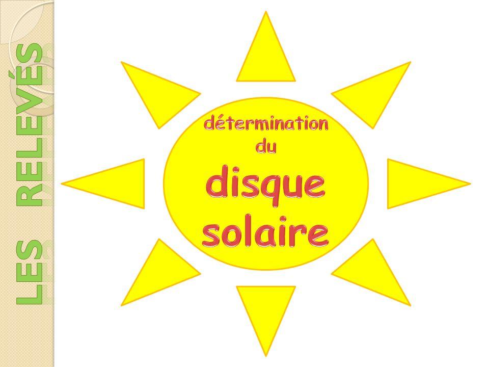 détermination du disque solaire les relevés