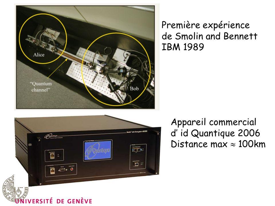 Première expérience de Smolin and Bennett. IBM 1989.