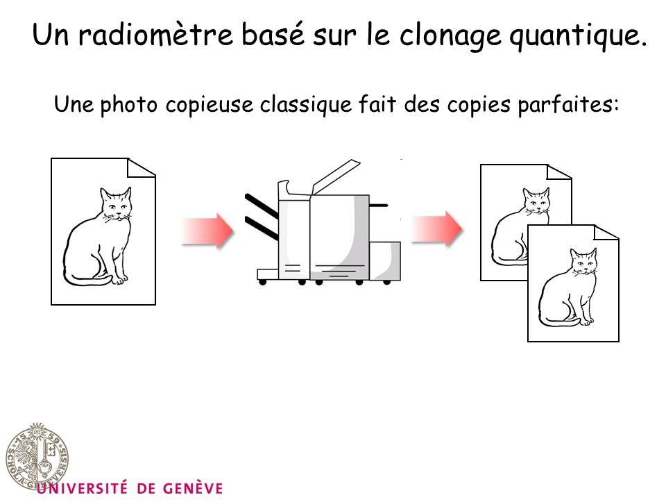 Un radiomètre basé sur le clonage quantique.