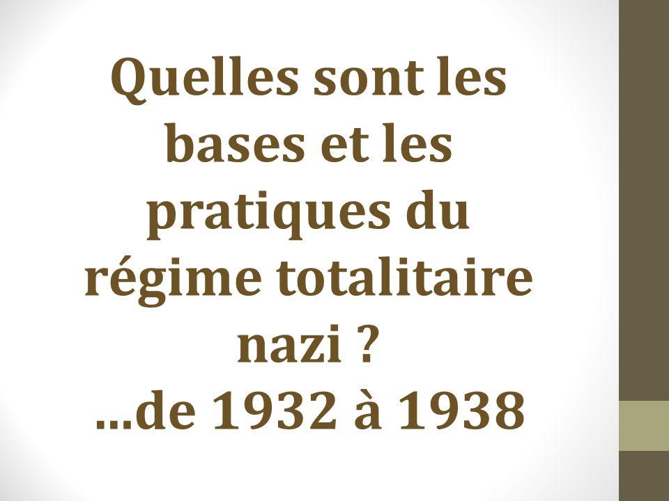 Quelles sont les bases et les pratiques du régime totalitaire nazi