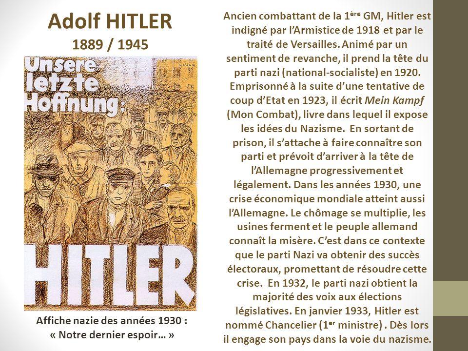 Affiche nazie des années 1930 : « Notre dernier espoir… »