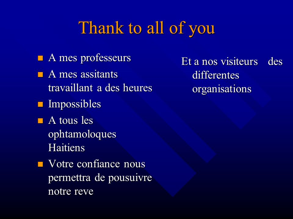 Thank to all of you A mes professeurs