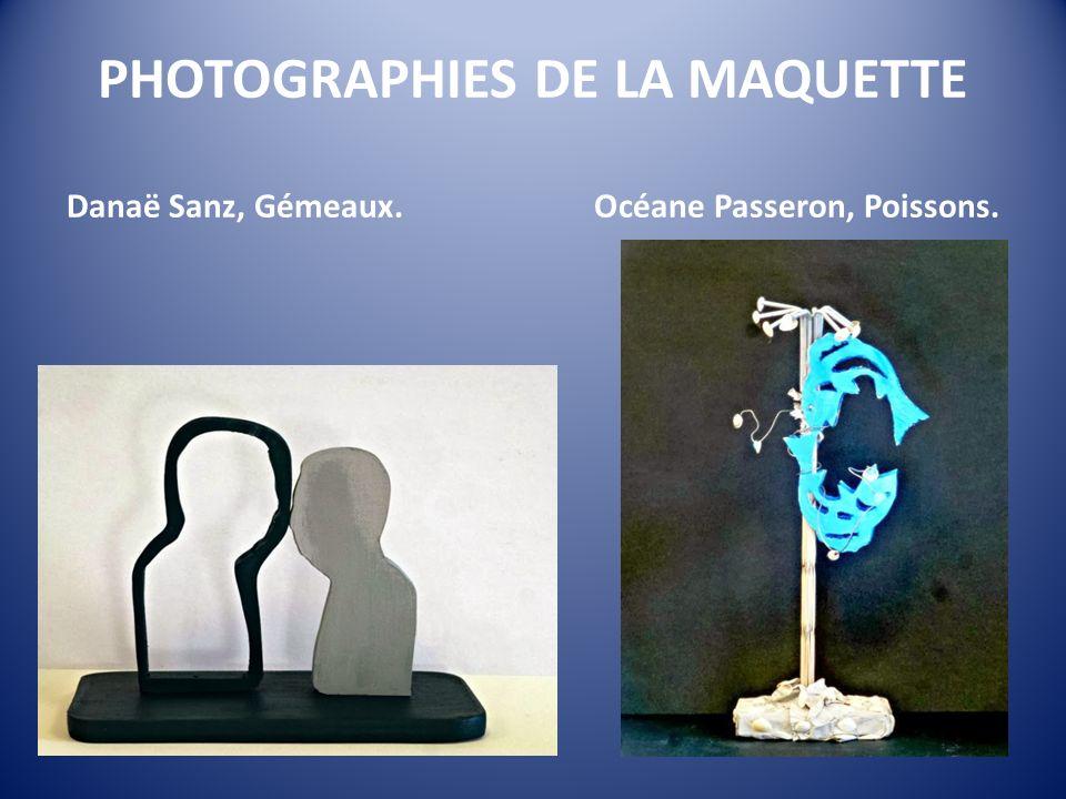 PHOTOGRAPHIES DE LA MAQUETTE Danaë Sanz, Gémeaux