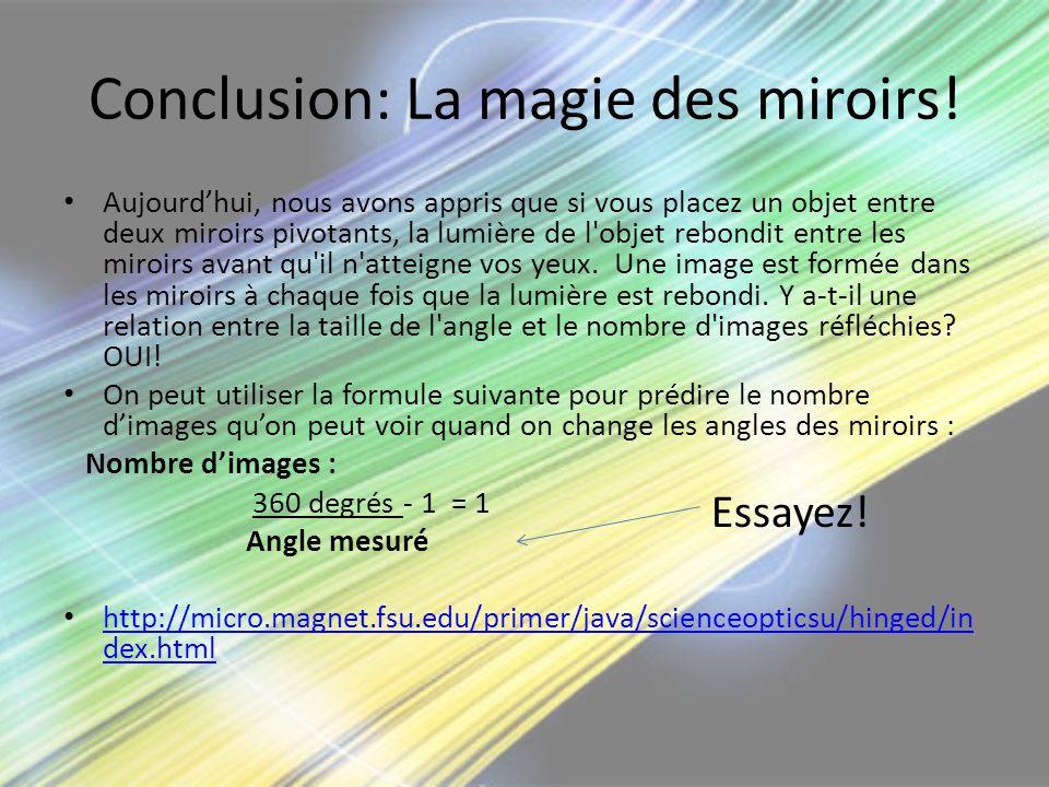 Conclusion: La magie des miroirs!