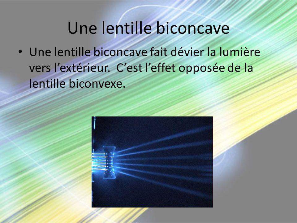 Une lentille biconcave