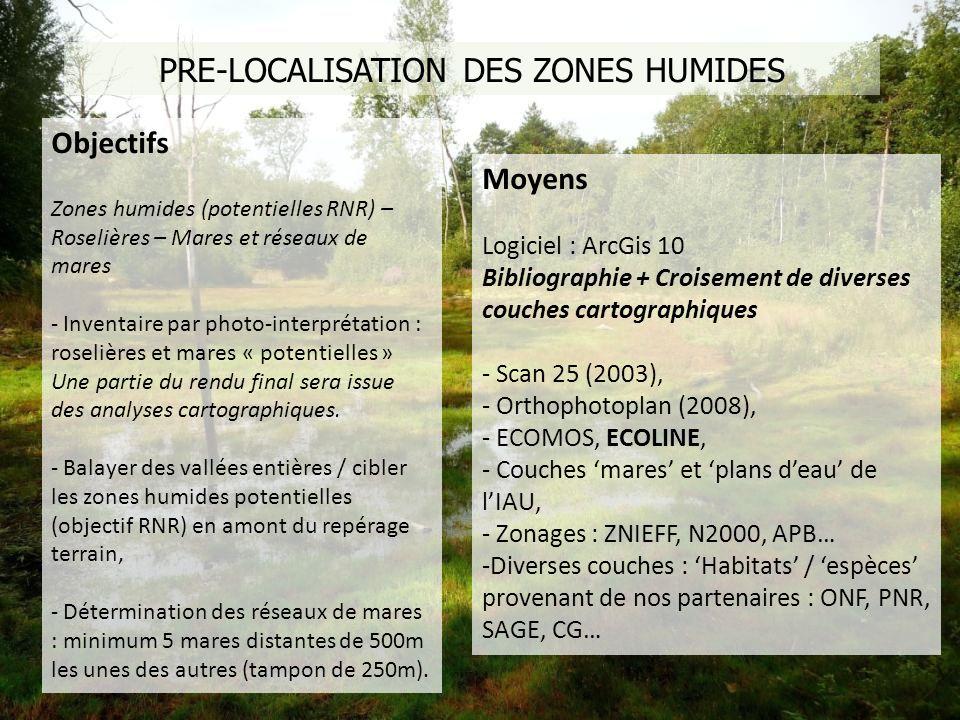 PRE-LOCALISATION DES ZONES HUMIDES