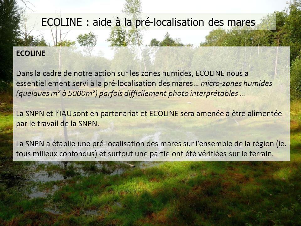 ECOLINE : aide à la pré-localisation des mares
