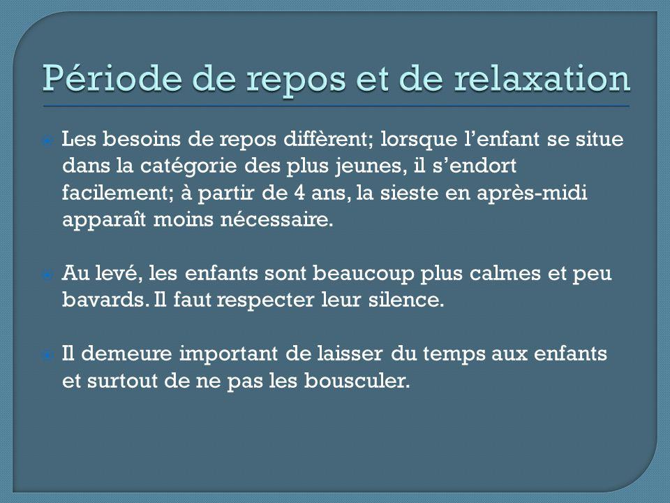 Période de repos et de relaxation
