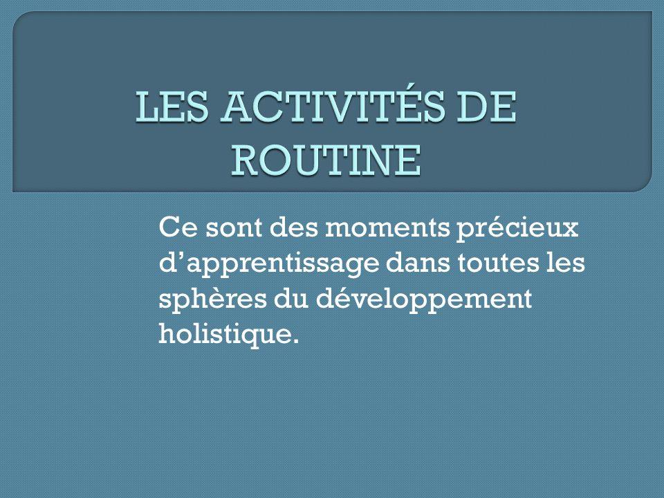 LES ACTIVITÉS DE ROUTINE
