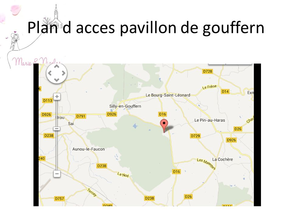 Plan d acces pavillon de gouffern
