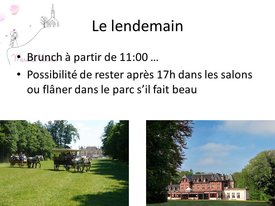Le lendemain Brunch à partir de 11:00 …