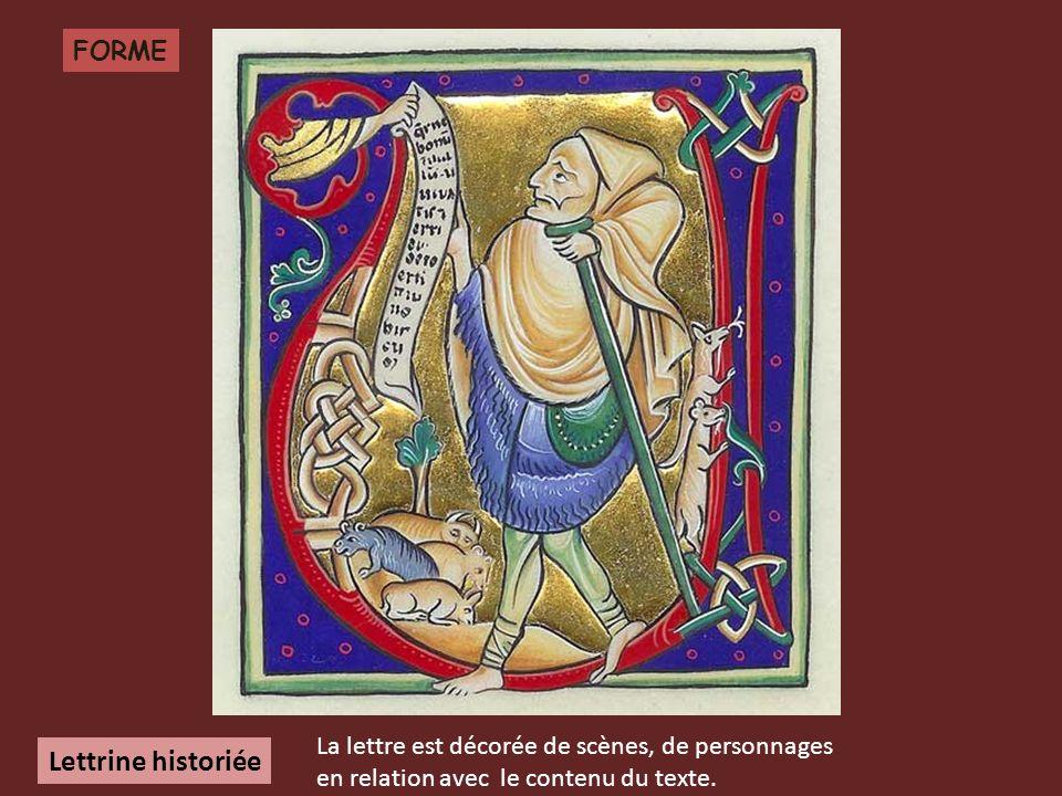 Lettrine historiée FORME