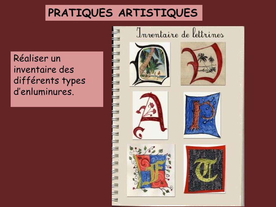 PRATIQUES ARTISTIQUES