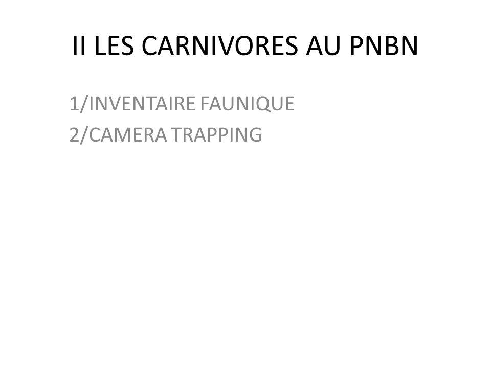II LES CARNIVORES AU PNBN