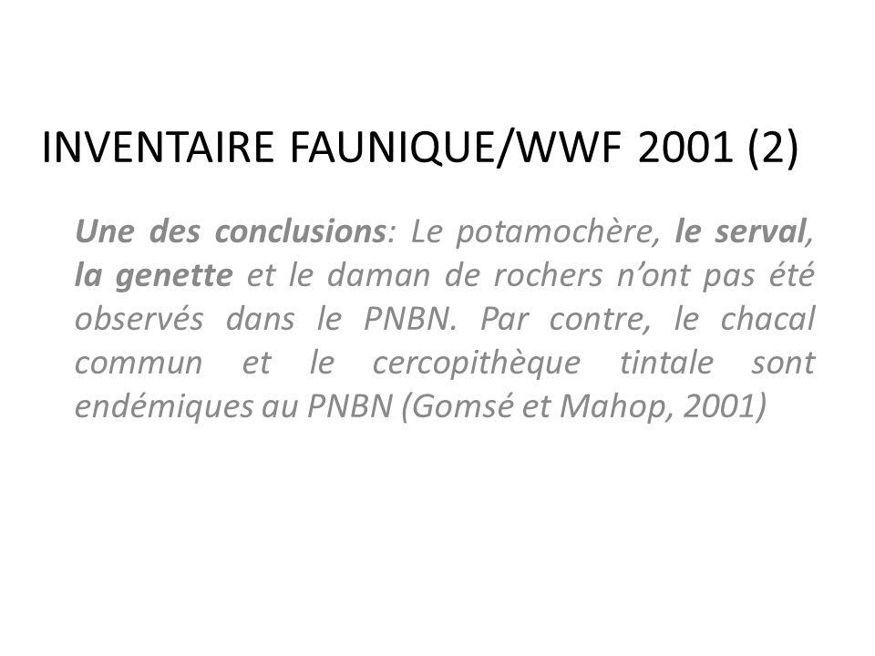 INVENTAIRE FAUNIQUE/WWF 2001 (2)