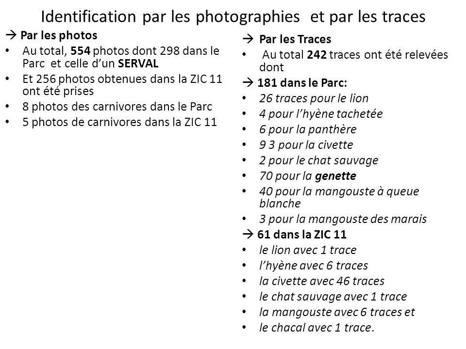 Identification par les photographies et par les traces