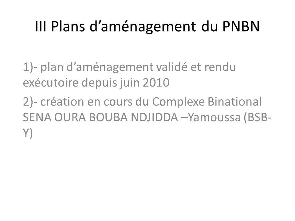 III Plans d'aménagement du PNBN