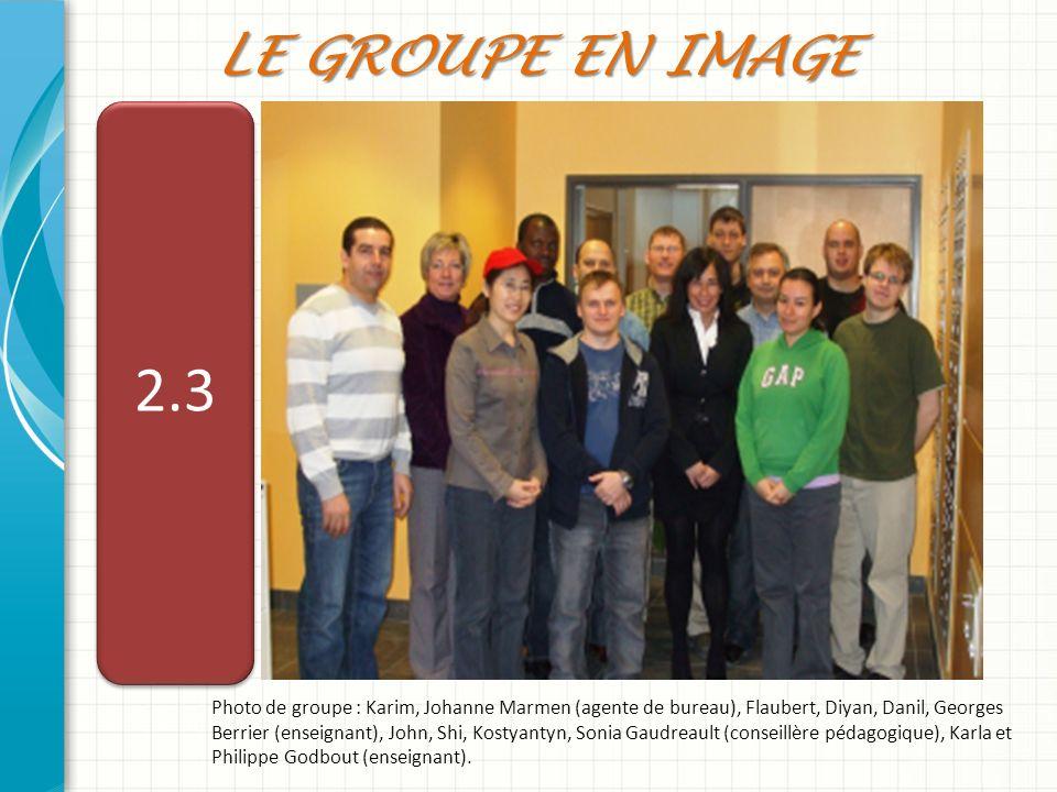 Le GROUPE en image 2.3.