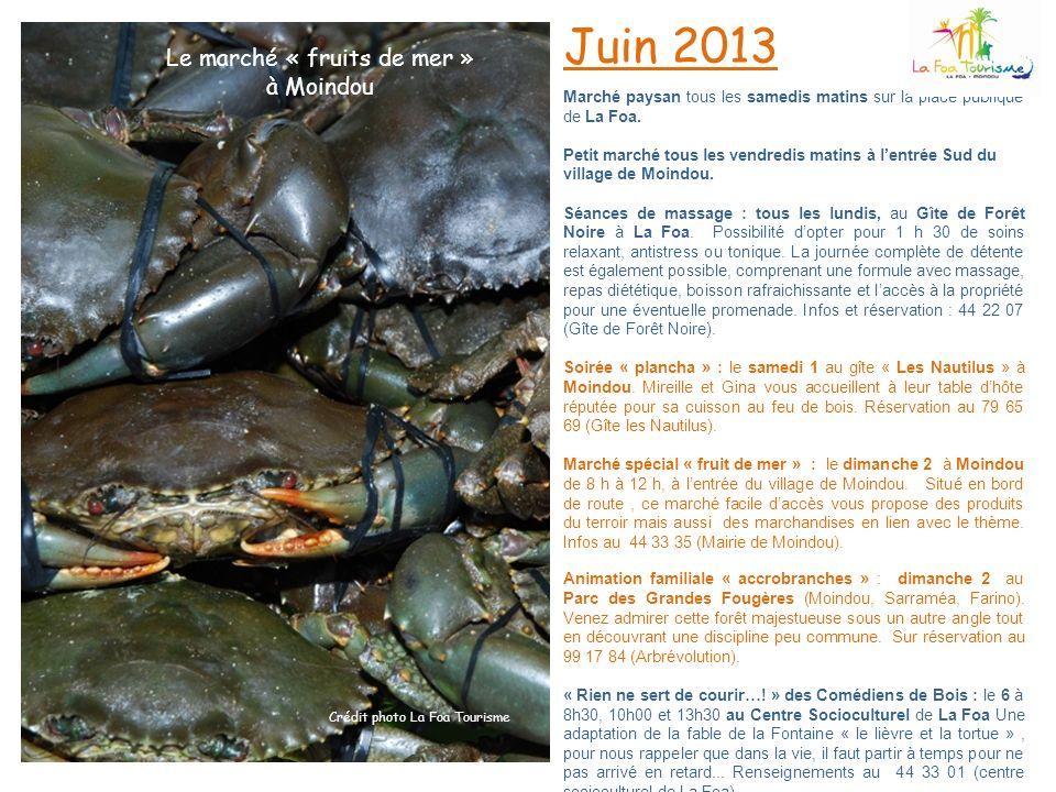 Juin 2013 Le marché « fruits de mer » à Moindou