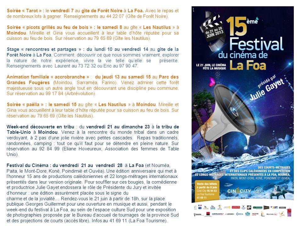 Soirée « Tarot » : le vendredi 7 au gîte de Forêt Noire à La Foa