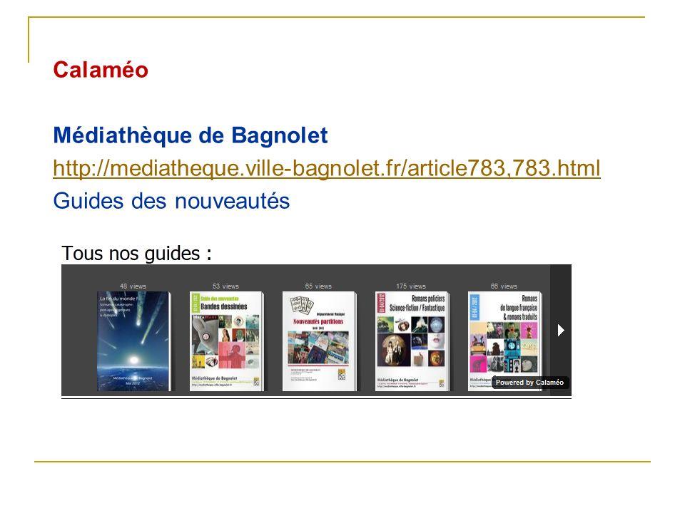 Calaméo Médiathèque de Bagnolet. http://mediatheque.ville-bagnolet.fr/article783,783.html.