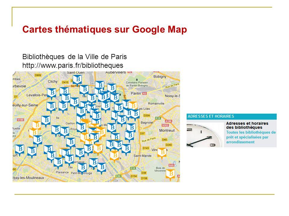 Cartes thématiques sur Google Map