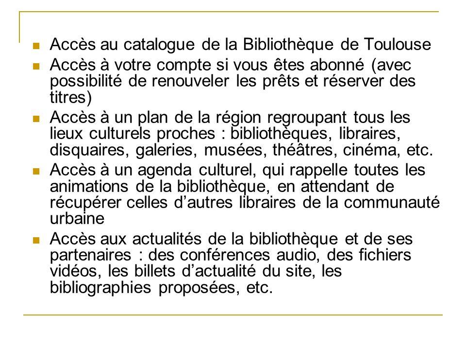 Accès au catalogue de la Bibliothèque de Toulouse