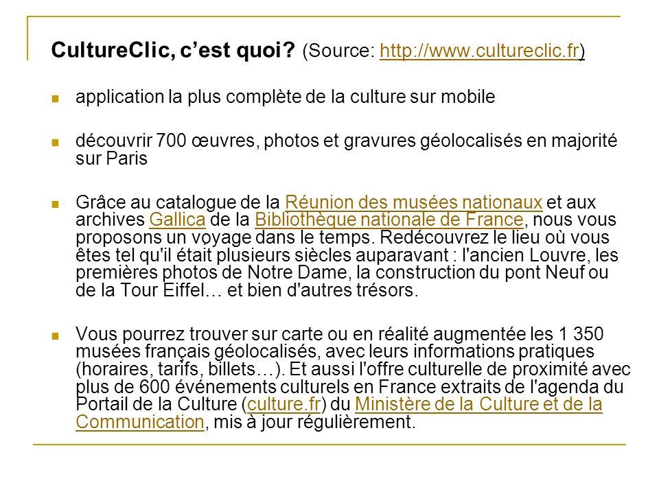 CultureClic, c'est quoi (Source: http://www.cultureclic.fr)