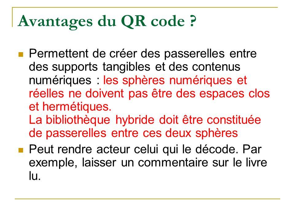 Avantages du QR code