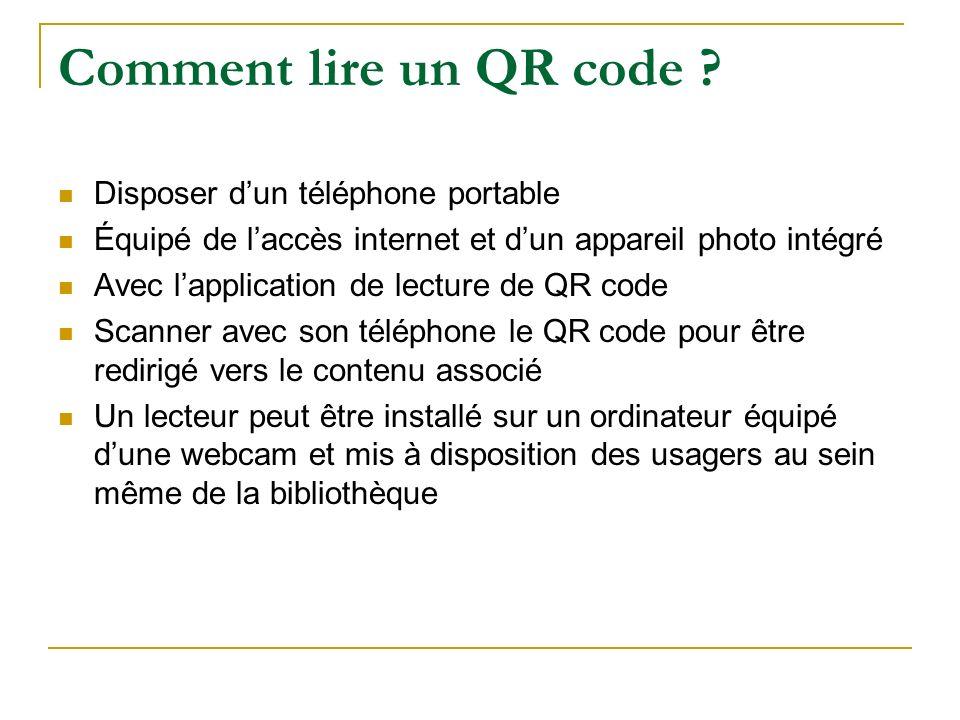 Comment lire un QR code Disposer d'un téléphone portable