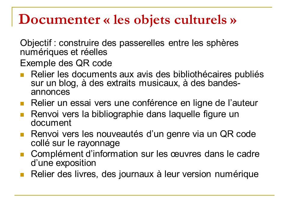Documenter « les objets culturels »