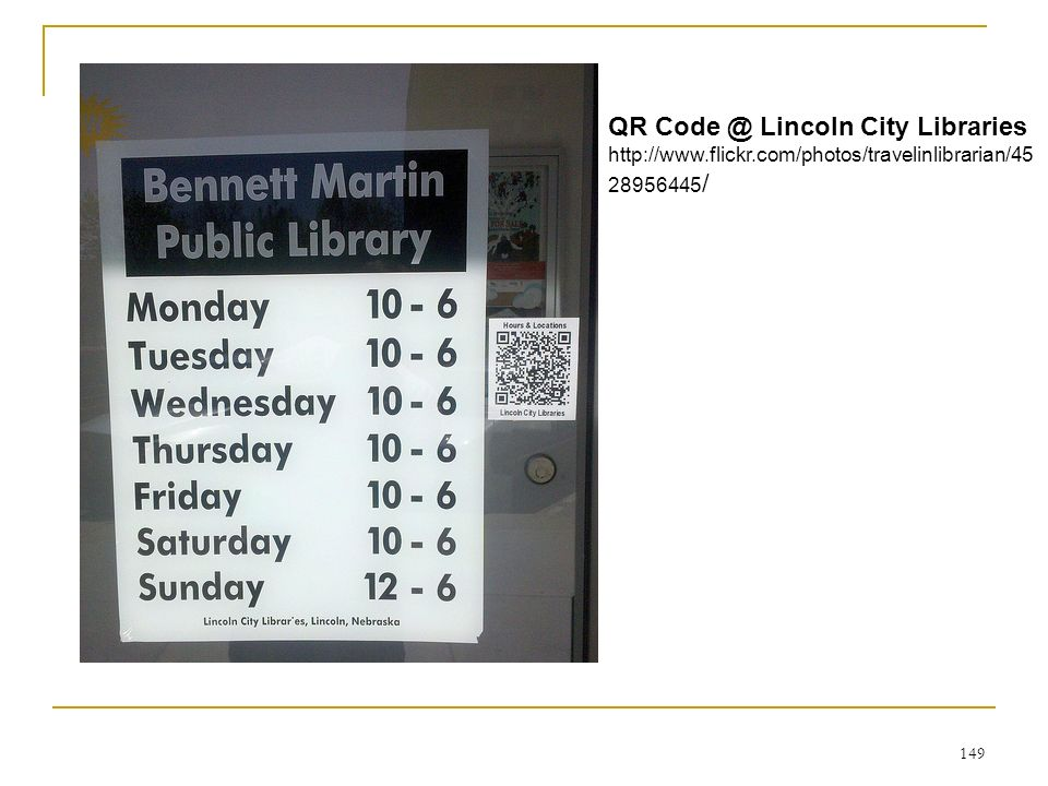 QR Code @ Lincoln City Libraries