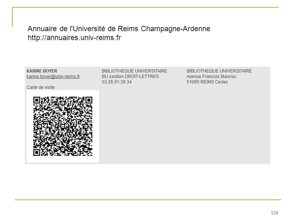 Annuaire de l Université de Reims Champagne-Ardenne