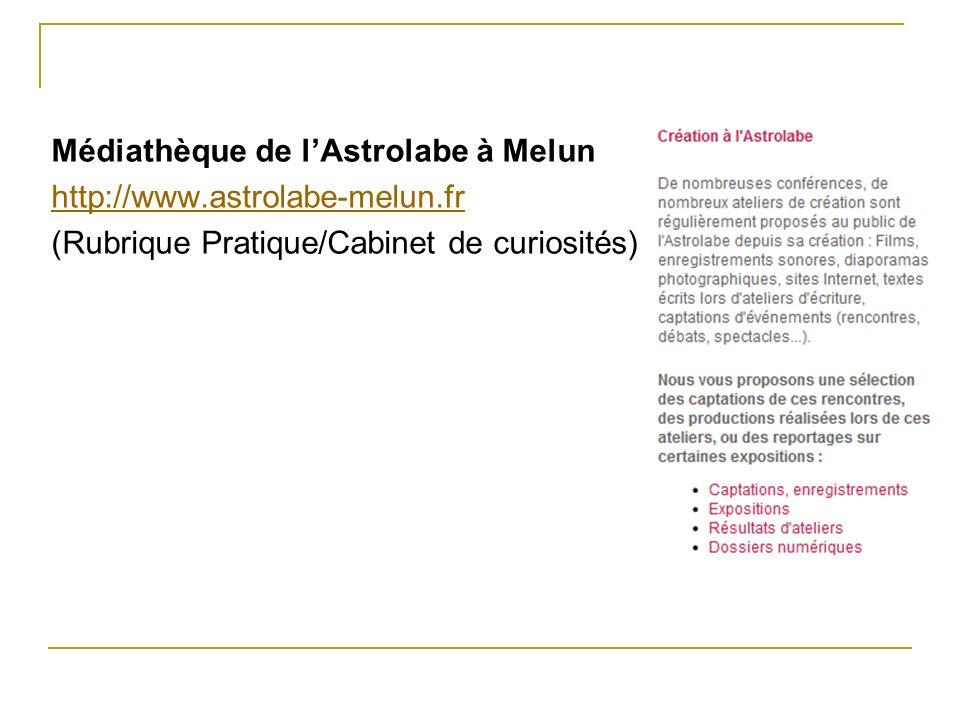 Médiathèque de l'Astrolabe à Melun http://www. astrolabe-melun