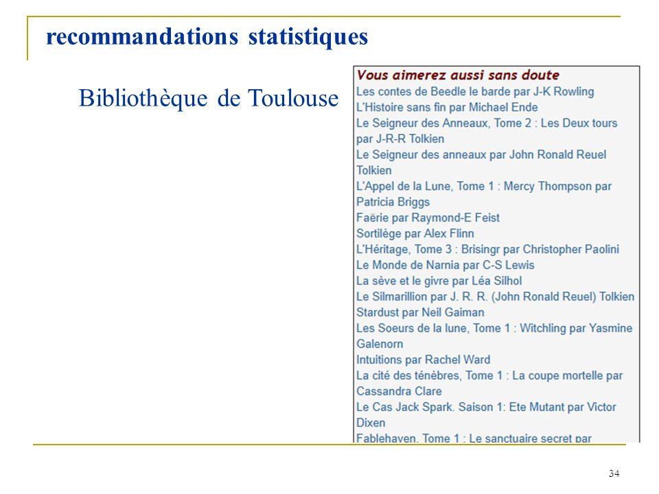 recommandations statistiques