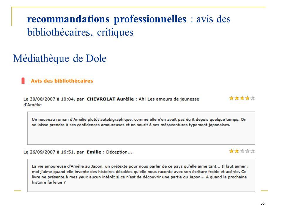 recommandations professionnelles : avis des bibliothécaires, critiques