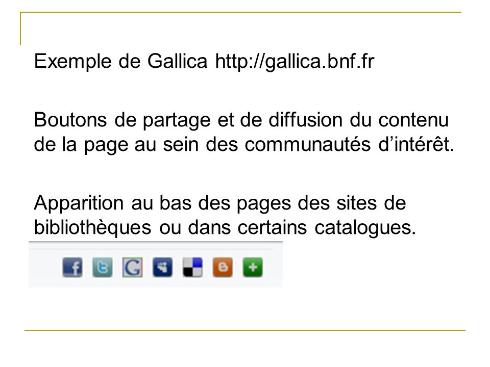 Exemple de Gallica http://gallica. bnf