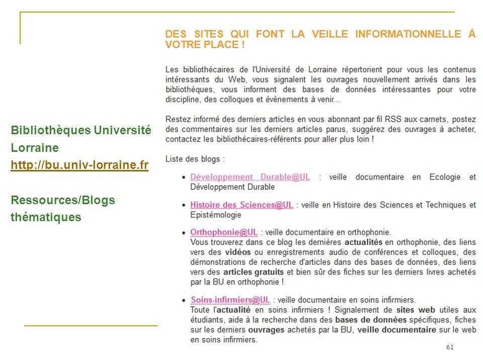 Bibliothèques Université