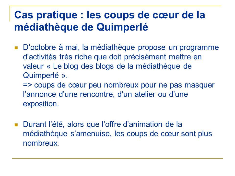 Cas pratique : les coups de cœur de la médiathèque de Quimperlé