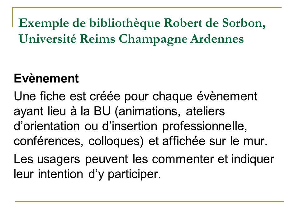 Exemple de bibliothèque Robert de Sorbon, Université Reims Champagne Ardennes