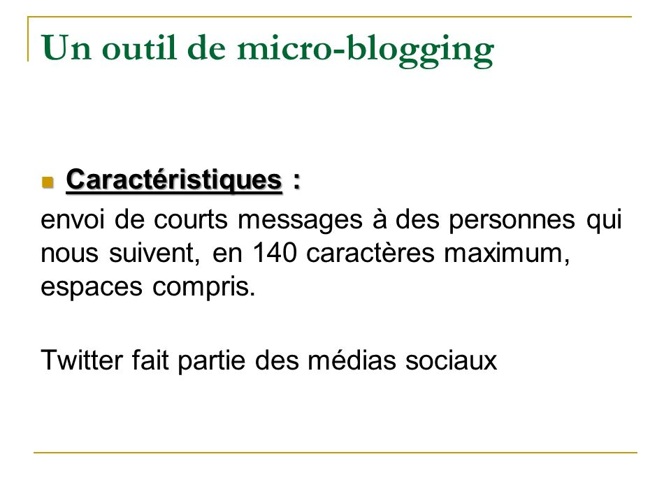 Un outil de micro-blogging